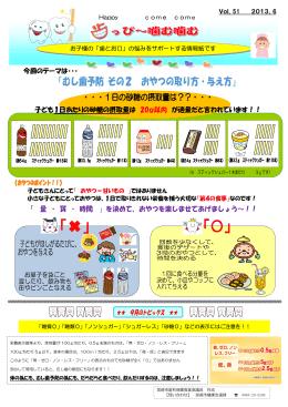 今回のテーマは・・・ 子ども1日あたりの砂糖の摂取量は 20g