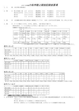 第1回小松市陸上競技記録会
