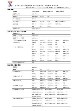 2013~14年度 - ワイズメンズクラブ国際協会西日本区