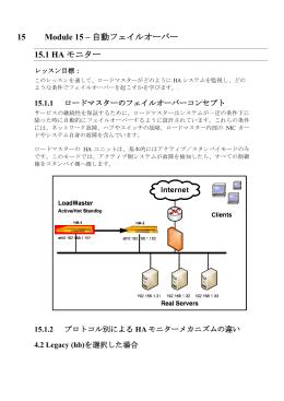 15 Module 15 – 自動フェイルオーバー 15.1 HA モニター