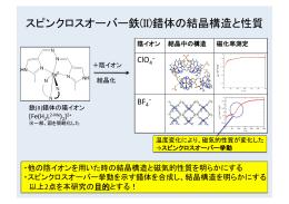 スピンクロスオーバー鉄(II)錯体の結晶構造と性質