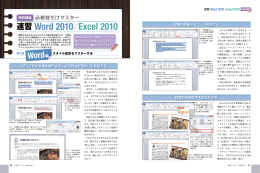 Word 2010ⅠExcel 2010