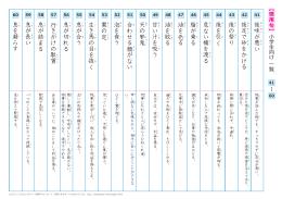 慣用句 一覧プリント 【41】