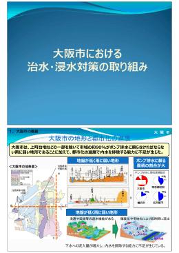 大阪市の地形と都市化の進展