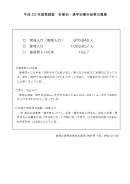 (昼間人口等)概要(PDF形式:140KB)
