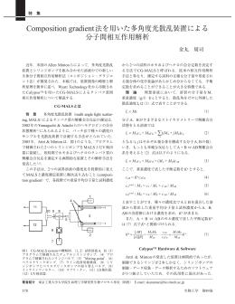 Composition gradient法を用いた多角度光散乱装置による 分子間相互