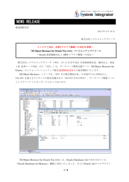 SI Object Browser for Oracle Ver.13.0