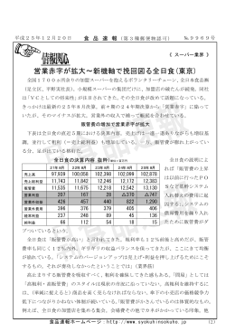 営業赤字が拡大∼新機軸で挽回図る全日食(東京)