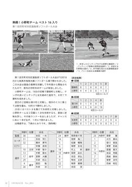 第1回市町村対抗福島県ソフトボール大会