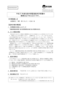 外部監査基本計画の概要(PDF形式形式 113 キロバイト)