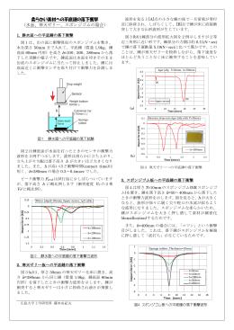 柔らかい素材への平底錘の落下衝撃 (水面、寒天ゼリー、スポンジゴム