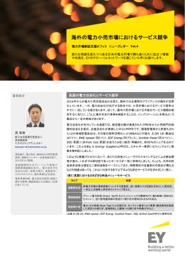 Vol.4 海外の電力小売市場におけるサービス競争 巽直樹
