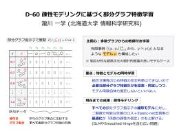 D-‐‑‒60 疎性モデリングに基づく部分グラフ特徴学習 瀧川 一学 (北