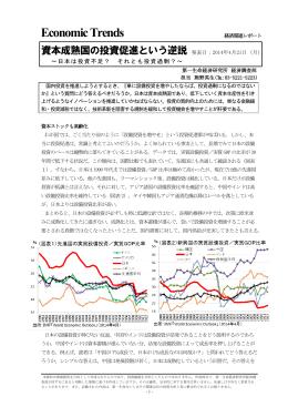 Economic Indicators 定例経済指標レポート