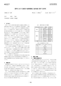 夏季における寝室の温熱環境と温冷感に関する研究