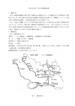 水生生物調査報告書(PDF:240KB)