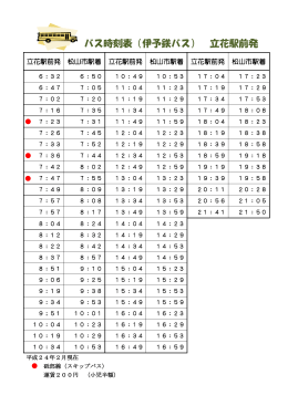 鉄道 表 伊予 時刻