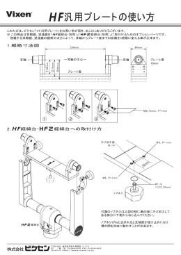 HF汎用プレートの使い方