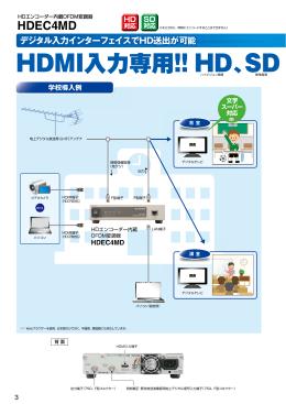 HDMI入力専用!! HD、SD どちらかへ
