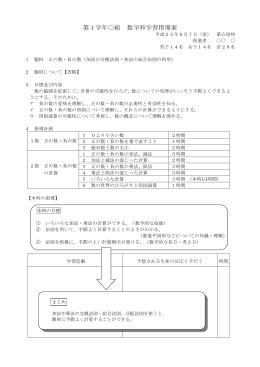 「正の数・負の数(いろいろな計算)」(中学校第1学年部会)(PDF:63KB)