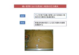 細い配管における気液二相流の圧力損失