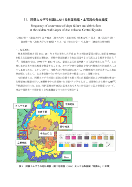 11. 阿蘇カルデラ斜面における斜面崩壊・土石流の発生頻度 Frequency