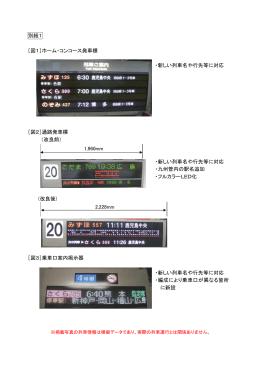 別紙1 [図1]ホーム・コンコース発車標 ・新しい列車名や行先等に対応