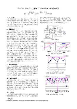 位相ダイバーシティ検波における偏波自動制御回路