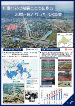 札幌北部の発展とともに歩む 流域一体となった治水事業
