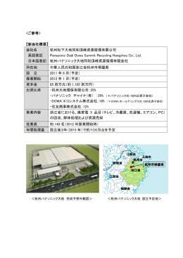 【新会社概要】 会社名 杭州松下大地同和頂峰資源