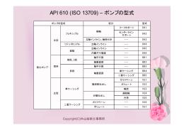 API 610 (ISO 13709) – ポンプの型式