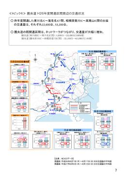 圏央道 平成26年度開通区間周辺の交通状況