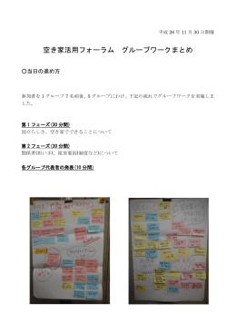 空き家活用フォーラム グループ ワーク まとめ (PDF形式:333.8