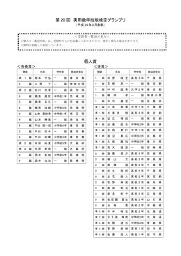 第 20 回 実用数学技能検定グランプリ 個人賞