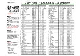 地域連絡バス時刻表 [196KB pdfファイル]