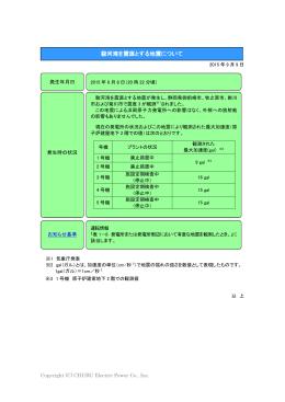 【運転情報】駿河湾を震源とする地震について[PDF:110KB]