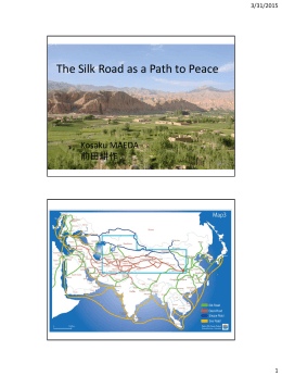 The Silk Road as a Path to Peace