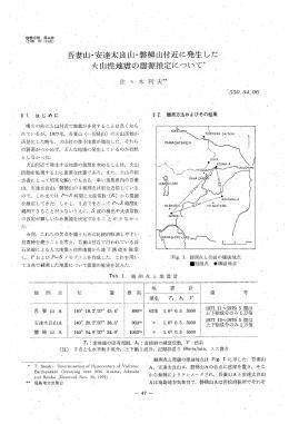 吾妻山・安達太良山・磐梯山付近に発生した 火山性地震の震源推定