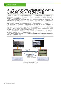 スーパーハイビジョンの非圧縮伝送システム とIBC2010におけるライブ中継
