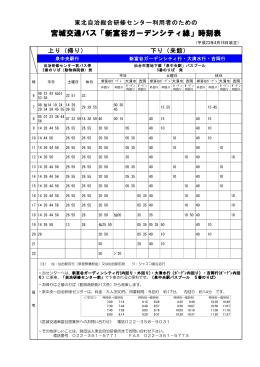 宮城交通バス「新富谷ガーデンシティ線」時刻表