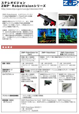 ステレオビジョン ZMP® RoboVisionシリーズ