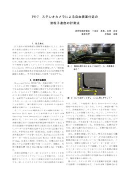 PS-7 ステレオカメラによる自由表面付近の 波粒子速度の計測法