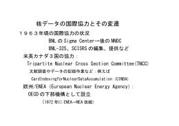 核データの国際協力とその変遷 - Nuclear Data Center