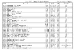 放送ライブラリー公開番組<大山勝美さん関連番組> 2014/10/8現在