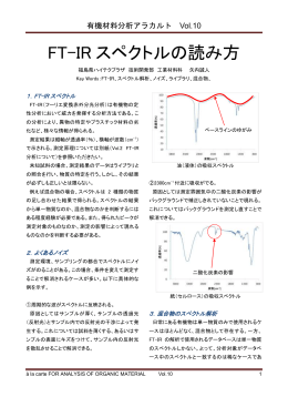 FT-IR スペクトルの読み方
