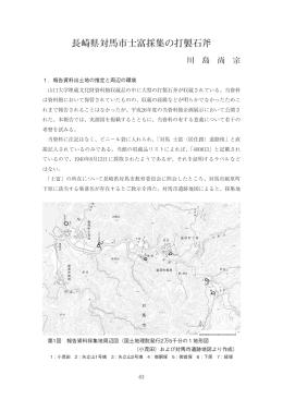 長崎県対馬市士富採集の打製石斧