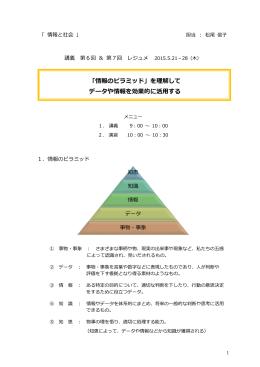 「情報のピラミッド」を理解して データや情報を効果的に活用する