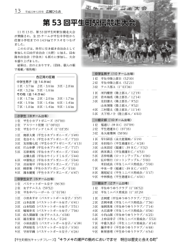 第 53 回平生町駅伝競走大会