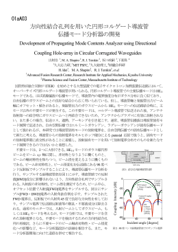 方向性結合孔列を用いた円形コルゲート導波管 伝播モード分析器の開発