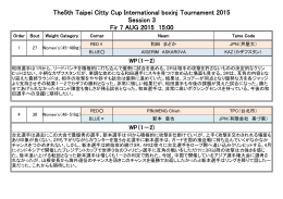 The5th Taipei Citty Cup International boxinj Tournament 2015